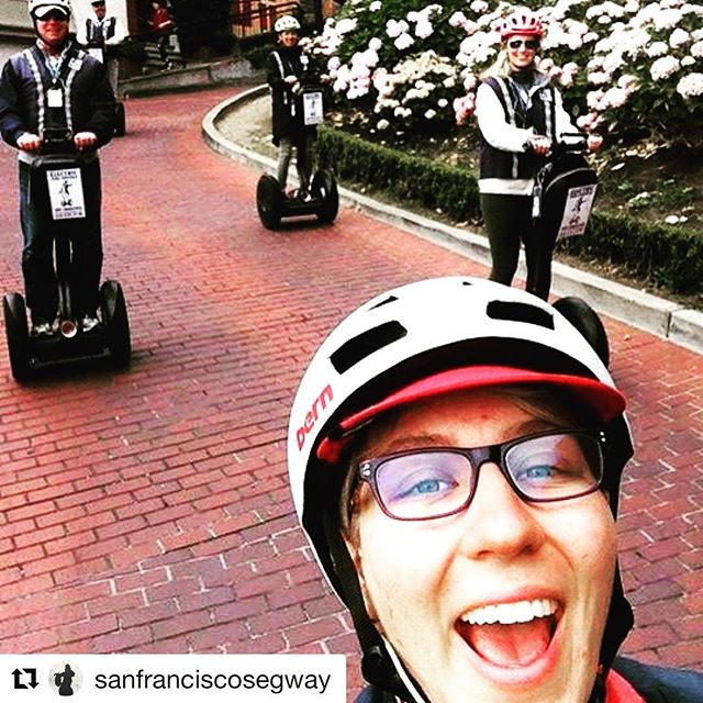 Segway selfie of the day is on Lombard Street in San Francisco California with San Francisco Segway Tours - Electric Tour Company @sanfranciscosegway ・・・ Segway selfie Wednesday . Another beautiful holiday weekend of private group segway guided tours in San Francisco. Book your segway tour adventure today for 2 to 8 guests. Privatesegwaytours.com or book our scheduled tours at electrictourcompany.com . . .