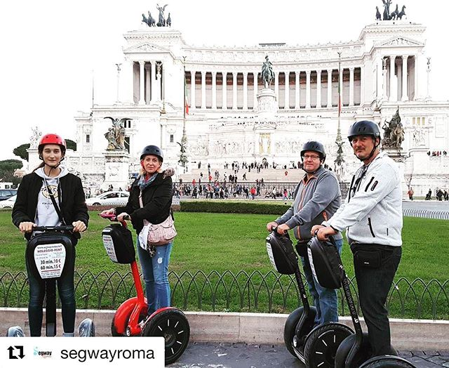 Roman holiday via segway tour. Historic sites around every turn with the segway tour of the day by @segwayroma . @segwayroma ・・・ in ️
