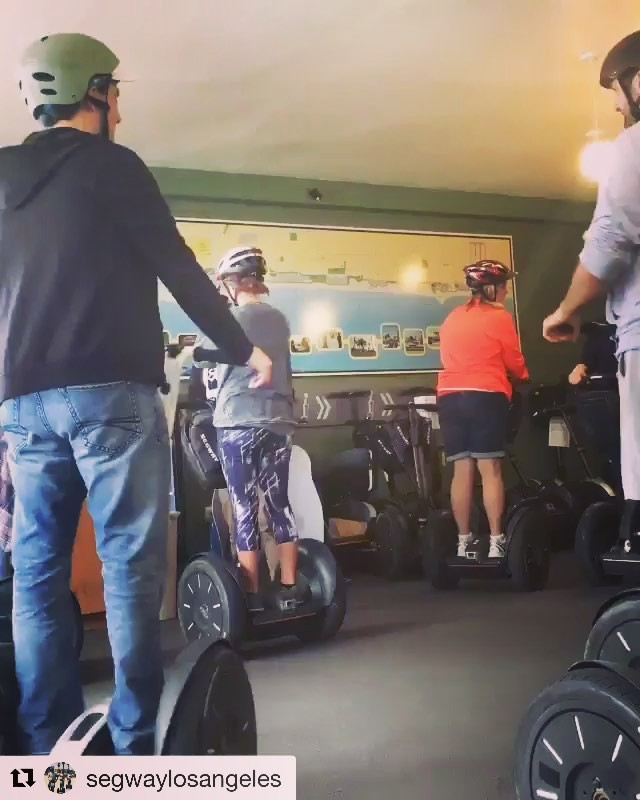 Getting ready to head out and segway through Los Angeles . . . @segwaylosangeles ・・・ Another successful tour begins!