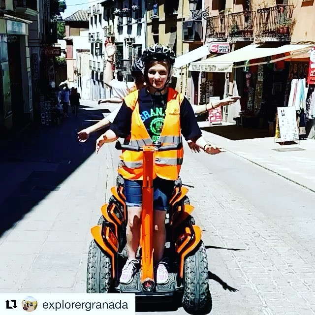 Segway boomarang of the day. Looks like the guests of explorer Granada are enjoying the segway tour@explorergranada ・・・ Segway tour granada la manera mas divertida de conocer granada