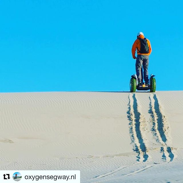 X2 segway riding in the dunes of Holland! - this is our idea of a fun segway adventure thanks for sharing . .  @oxygensegway.nl ・・・ X2 ecotour Dutch dunes climbing.