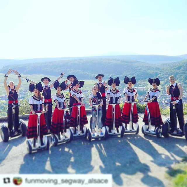 Best segway tour attire of the week! Funmoving in Alsace France  is today's segway tour of the day . . @funmoving_segway_alsace
