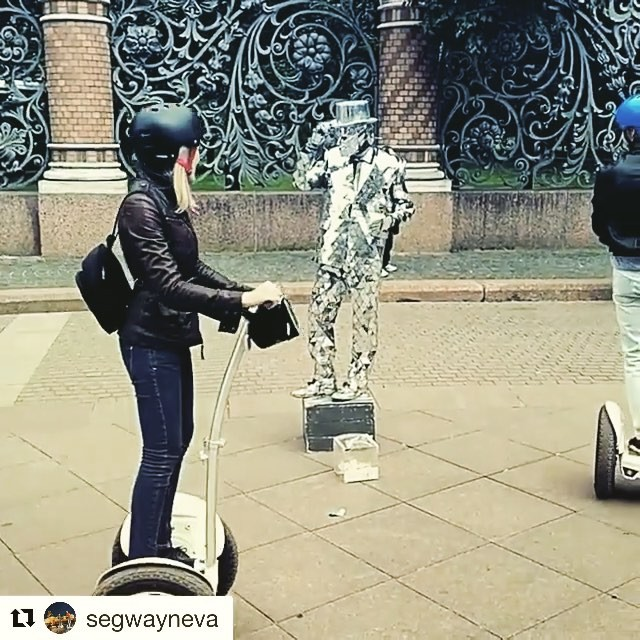 Segway tour video of the day from St Petersburg Russia  with the mirror man @segwayneva Вот такие персонажи есть на улицах Санкт-Петербурга