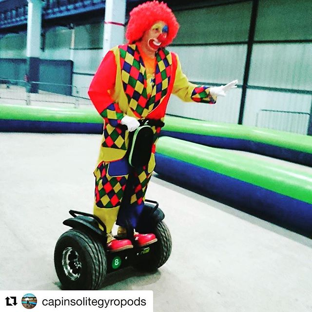 Clowning around on a segway! Today's best costume while gliding goes to Cap Insolite Gyropods in France  . . @capinsolitegyropods ・・・ Clown & Gyropod's...