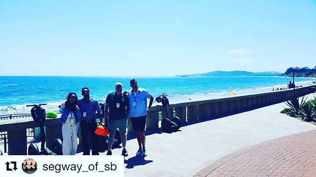Beach day continues with a stop on the West Coast. Santa Barbara CA is the perfect segway tour spot with an amazing view of the Pacific Ocean  @segway_of_sb ・・・ Book your tour with us today, let's go to see the historic downtown Santa Barbara or the Queen of the Missions, or beachside Montecito!