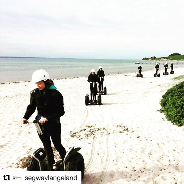 Let's go segway on the beach! Segway Langeland is today's beach tour of the day. Fun with the segway x2. . @segwaylangeland ・・・ Sex... Nej, Segway on the Beach .