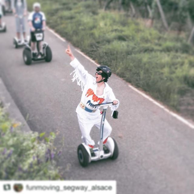 The award for having too much fun on a segway tour house to this guy! I think they are seving wine on this segway tour in Alsace France  . . . @funmoving_segway_alsace