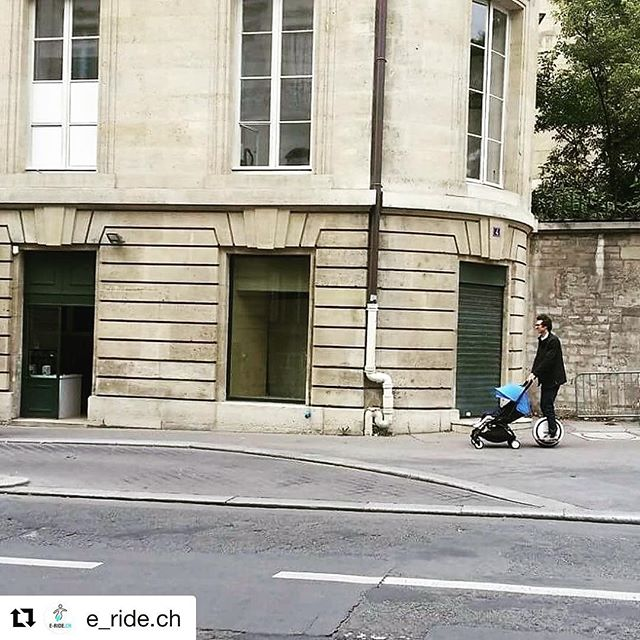 Throw back - This baby carriage questionable parenting skills image seems vaguely familiar -  is this a TBT ?  Could be Paris by solowheel? . @e_ride.ch ・・・ In Paris www.e-ride.ch