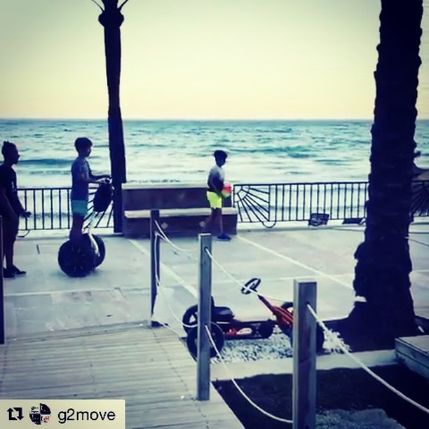 Marbella Spain  looks like the perfect place to learn how to ride a segway or take a segway tour  @g2move ・・・ In this way we welcome our customers, this is