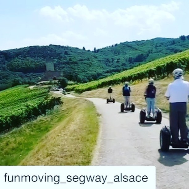 Segway tour through the the picturesque wine  country Alsace in France  . .  @funmoving_segway_alsace ・・・ Katzenthal with his Grand Cru Wineck-Schlossberg