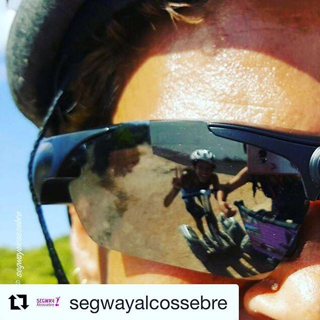 Mirror mirror reflections on the segway ride! Segway selfie of the day from adventures in Spain  Get out and glide! . . @segwayalcossebre ・・・ No son solo unas #gafas, estas tienen . 🕶   No dejais de sorprendernos, nos quedamos con ganas de ver el #video.