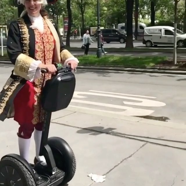 All dressed up and somewhere to go via segway! Best segway rider if the day in Vienna Austria 🇦🇹 . @segwayrentalvienna ・・・ Book our Schönbrunn Tour, and explore our historical town!