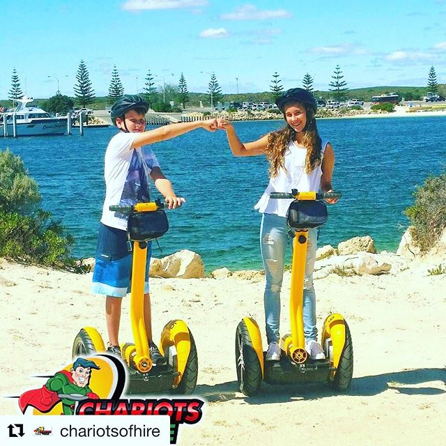 Today's Segway's at the beach photo is from Perth Australia Segway down under with the folks from chariots for Hire. . 🇦🇺 @chariotsofhire ・・・ 🐇 Easter Monday by the beach