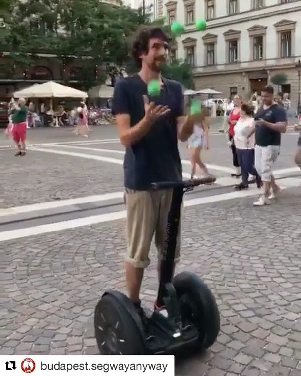 @budapest.segwayanyway (@get_repost) ・・・ Juggling