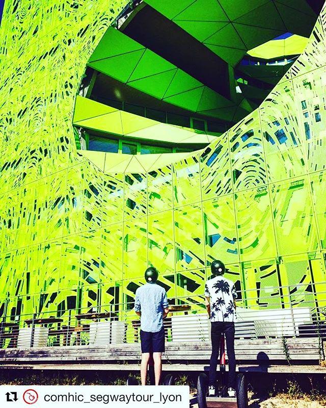 Segway tour of the day is in Lyon France  with this amazing Instagram ready stop on their Segway tour. . . @comhic_segwaytour_lyon ・・・ Balade insolite à Confluence  ... Vous aussi partagez vos coins préférés #️⃣? ...