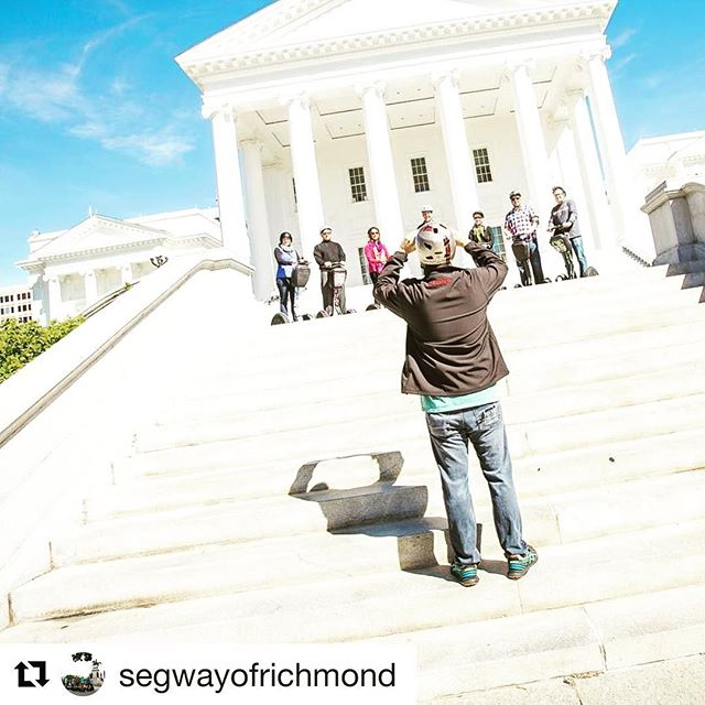The Segway tour destination of the day is in Richmond Virginia USA  great spot to take a perfect segway vacation pic! Find your perfect segway tour destination at segway-tours-worldwide.com . . @segwayofrichmond ・・・ Get a picture of you and some family, friends or coworkers all on Segways in front of the State Capitol too!! Give us a call today to book your tour!