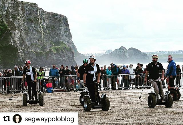 Segway Polo on the beach in Cornwall looks like amazing fun. Thanks to segwaypoloblog for the great shot . . @segwaypoloblog ・・・ Find out what I got up to this weekend in Cornwall  Link in bio