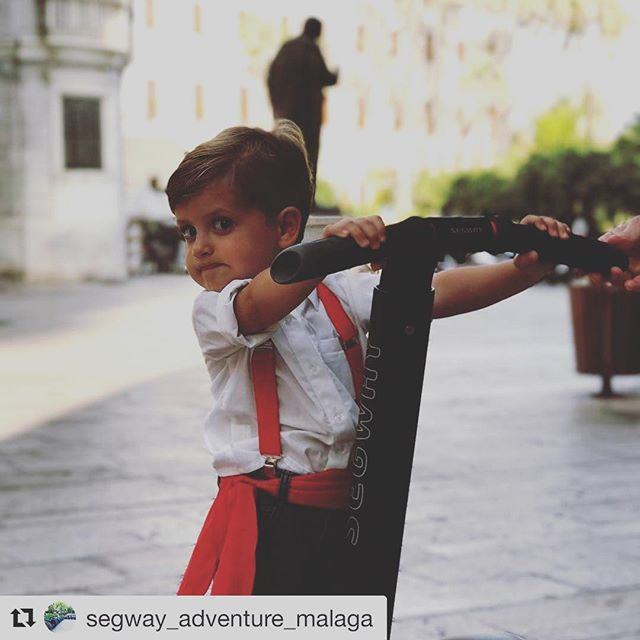 Segway pic of the day. You can find that segway smile at any age. Be safe gliding and riding. . . @segway_adventure_malaga ・・・