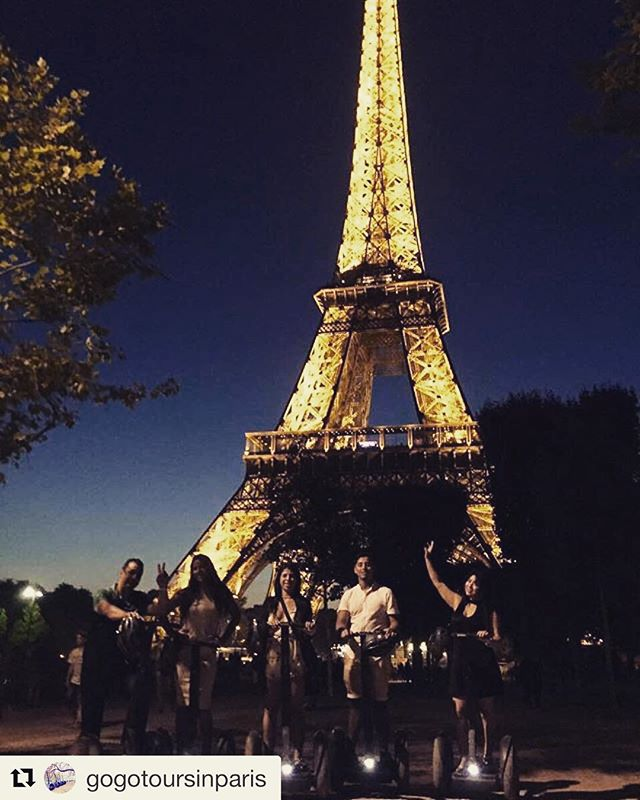 Segway tour destination of the day or night is the city of light - Paris  Experience one of the most beautiful destinations in the world by segway tour. .. . @gogotoursinparis ・・・ Hello, hello!