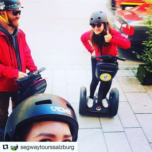 Segway selfie of the day is from Salzburg Austria ?? get your Segway selfie ? at one of over 700 Segway tours worldwide . . . @segwaytourssalzburg ・・・ So vü motiviert ?