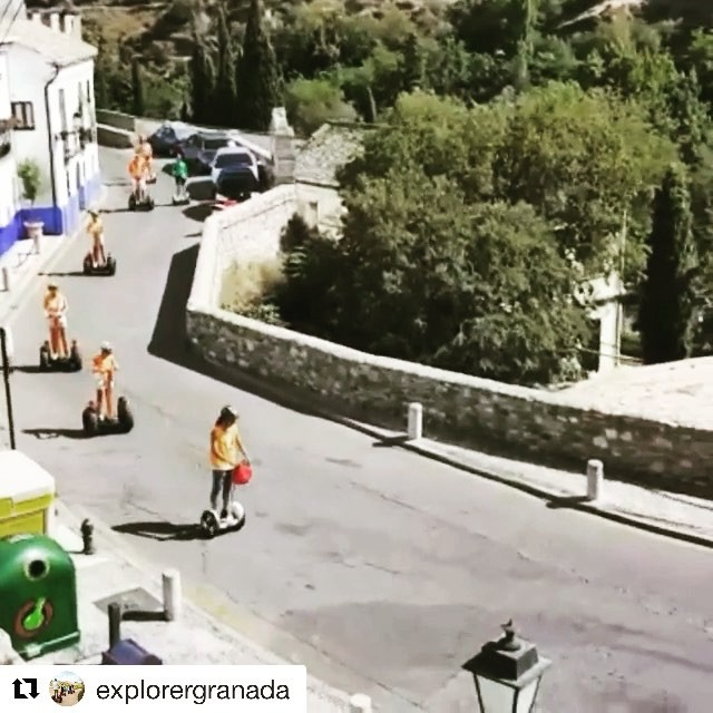 Segway tour video of the day is from Granada Spain  Don't delay get outside and explore on a segway tour today choose from 700+ segway and Ninebot tours @segwayworldwide . . @explorergranada ・・・ with is something else!  . . . .