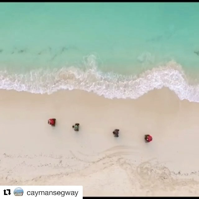 Best segway beach destination of the day - 7 mile beach in Grand Cayman Bahamas ?? and not a bad drone shot either. Let's go x2 segway riding on the beach . . @caymansegway ・・・ Join us for the tour of your dreams # local guides # great  vibes!! Seven Mile Beach Cayman!