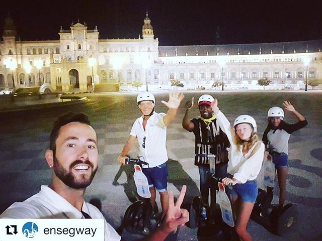 Segway selfie and Segway smile of the day from Seville Spain  go find your segway smile in over 700 locations worldwide. .. . @ensegway ・・・ Give me five, man!