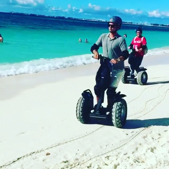 For you folks enjoying a cold winter here's a warm weather Segway tour direct from the beach in the Cayman Islands . @caymansegway