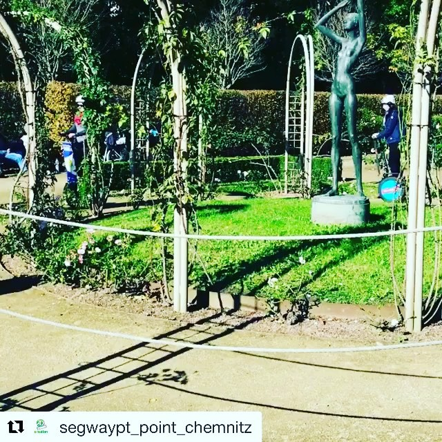 Going round and  round this Saturday. Segway tour are offers year round in many destinations. @segwaypt_point_chemnitz (@get_repost) ・・・ and now🏼😀