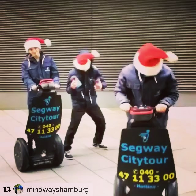 Get in the holiday spirit with the Segway crew from Hamburg Germany  . . @mindwayshamburg (@get_repost) ・・・ Und es geht wieder los ???