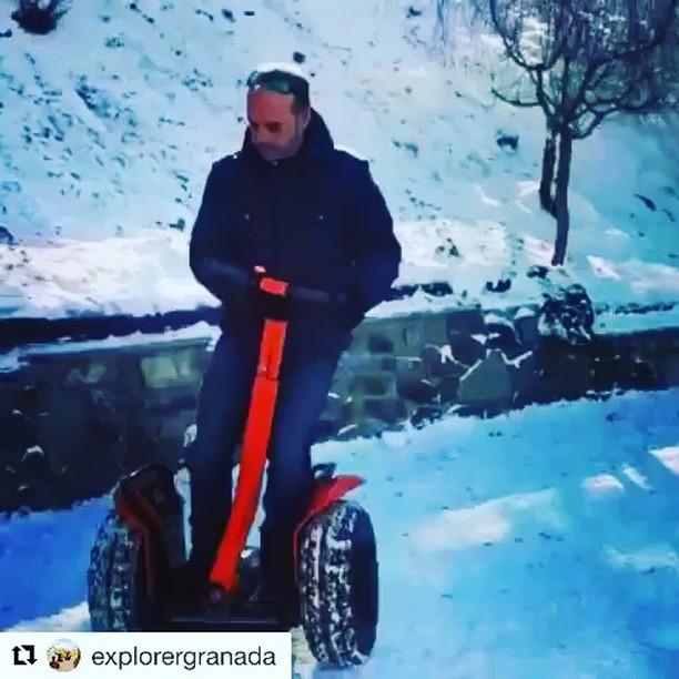 More winter Segway adventures in the snow! X2 Segway's are the perfect ride in the snow. . . @explorergranada (@get_repost) ・・・ Have you ever tried a @segway in ? Now you can do it in come to see us at @spinprocenter in Plaza de Andalucia, Pradollano. ¿Has probado alguna vez un en la ? Ahora puedes en Sierra Nevada , no te lo pierdas! • • • •