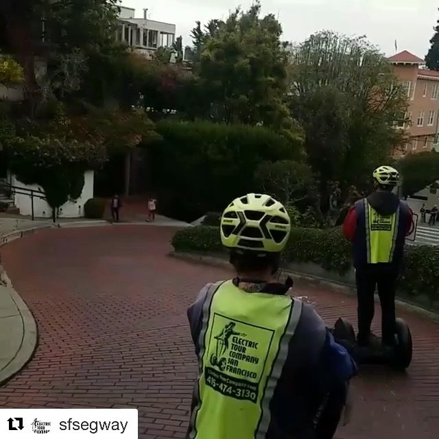 Start 2018 off with a Segway ride down the crookedest street in San Francisco . @sfsegway ・・・ What a breathtaking view it is to ride down Lombard Street in San Francisco on a segway! Take our advanced hills segway tour and find out! . . . . . . . .