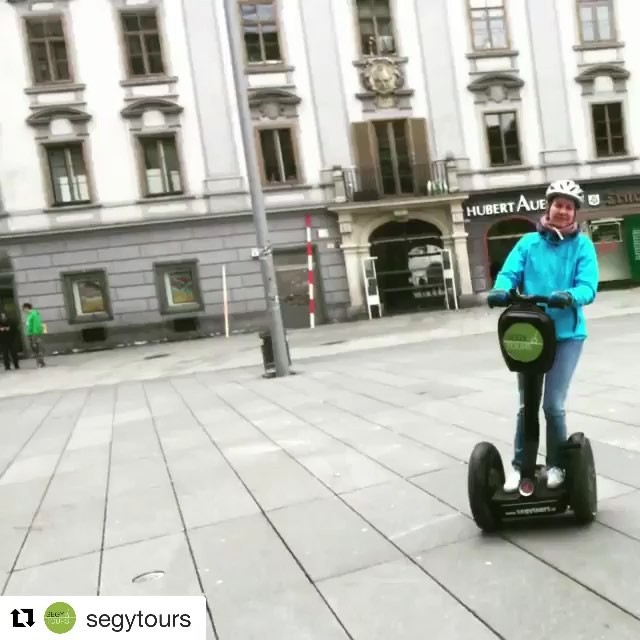 Get out and glide! Follow the leader looks like Segway fun in Graz Austria.  @segytours ・・・ Und los geht's!! ️