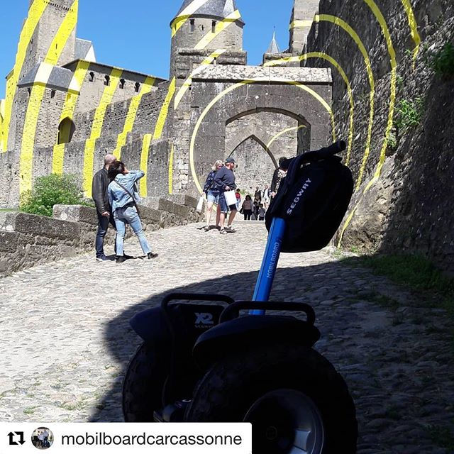 get out and Segway it's a beautiful day in Carcassonne France  @mobilboardcarcassonne ・・・ Balade en famille sous le soleil entre terre et nature 😎😎
