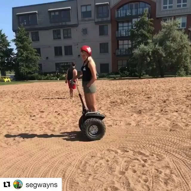 Here's to getting your feet in some sand this summer @segwayns with ・・・ Some people have mini zen gardens, some people have segways and sandlots🤷🏼♀️ @mywaterfrontns