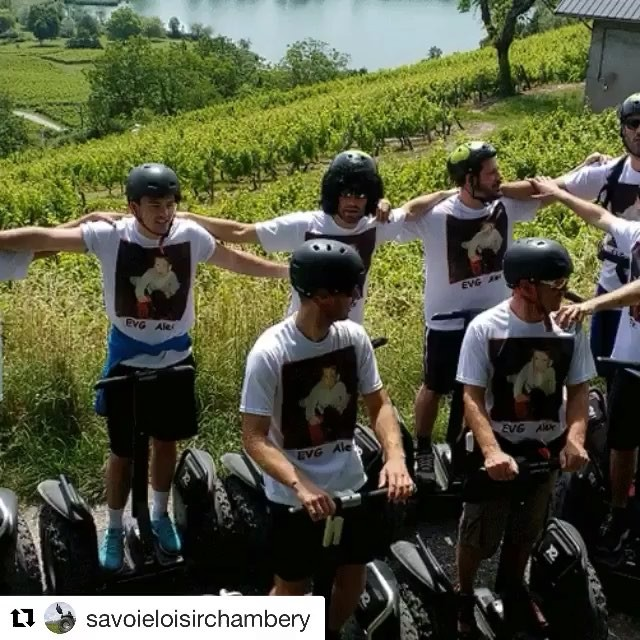 Coordinated Segway moves! . @savoieloisirchambery ・・・ EVG by Savoie Loisir Segway.  Rando au Lac St André sous le Mont Granier.