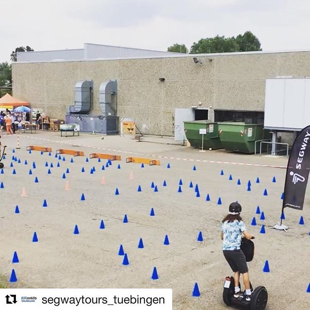 A bit of Segway obstacle course and parkour . @segwaytours_tuebingen ・・・ Parcour-Event bei der Firma Hettich @hettich_official