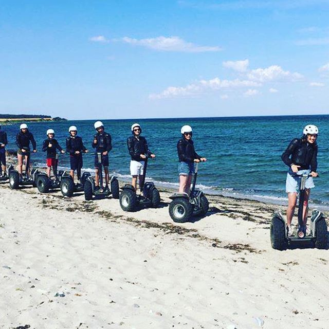 Beach day and Segway day combined fun in . @segwaylangeland ・・・ Segway on the Beach ️?. #