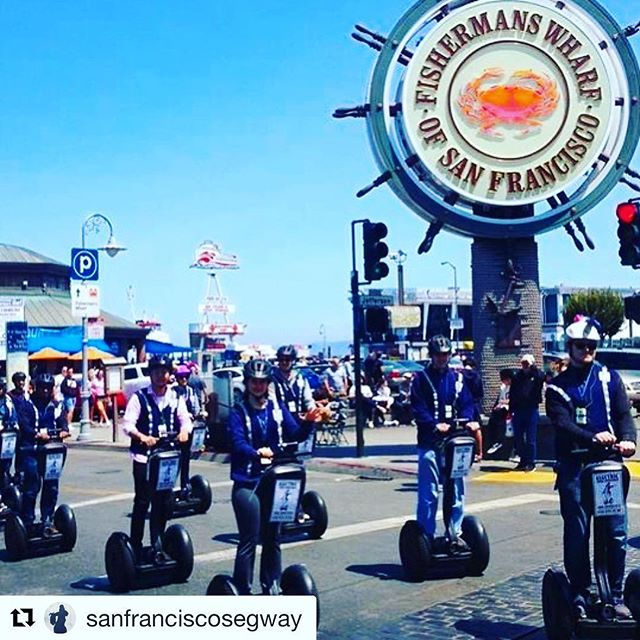 @sanfranciscosegway ・・・ Some of our summer visitors pictured in  on an entertaining private segway tour of @fishermanswharf and We offer private tours for 2 to 8 guests and group tours / team building events for 8 to 100 guests. Find out more at electrictourcompany.com today or call 415-474-3130 . .