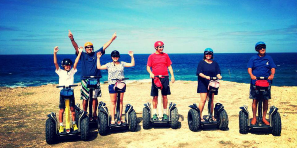 Segway Tour on the beach in Barbados