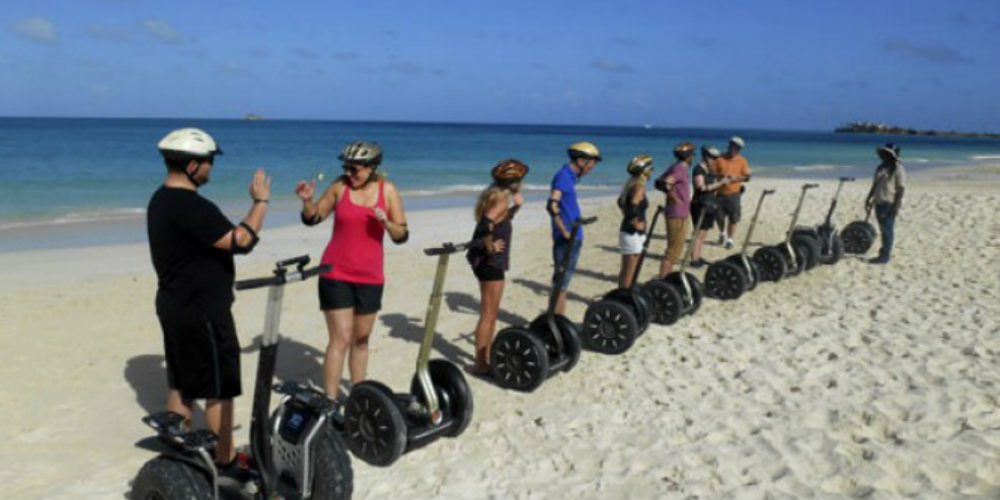 Beach segway tour in Antigua