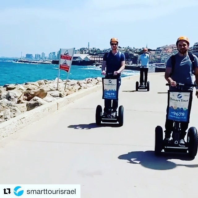 Segway Tours Worldwide beachside tour of the day in Tel Aviv Israel 🇮🇱 with @smarttourisrael . . @smarttourisrael (@get_repost) ・・・ The guys from intel had a great after work Segway experience with us!! Putting some software engineers on wheels.. The full short movie is over here --> https://youtu.be/Oqg792aguf0 . ~~~~~~~~~~~~~~~~ www.smart-tour.co.il 🇮🇱 ~~~~~~~~~~~~~~~~ .