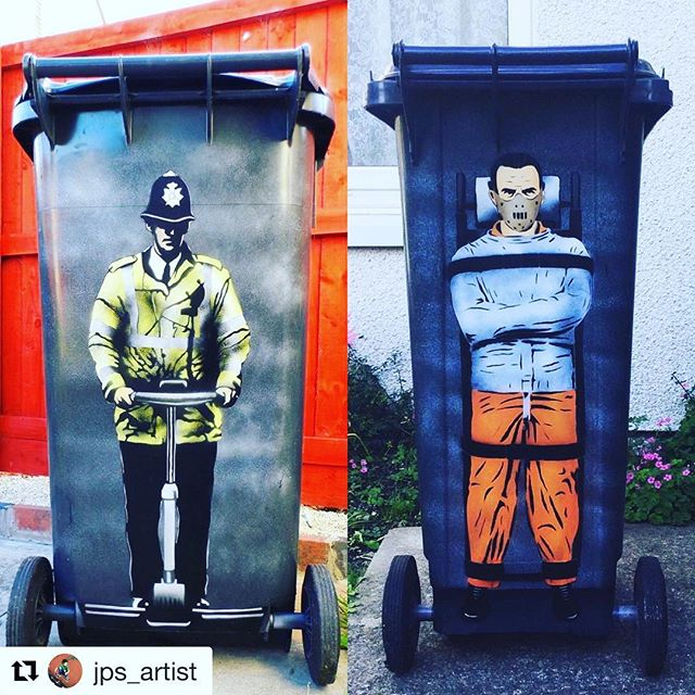 Jps Segway cop has a new friend. Choose your friends carefully ?. seglife .. @jps_artist ・・・  JPS Segway cop 2014 and Hannibal lecter 2015